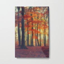 Dreamy Fall Reds Metal Print
