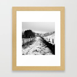 Snowy Country Lane Framed Art Print