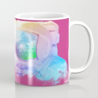 astronaut Mugs featuring Astronaut by Guilherme Rosa // Velvia