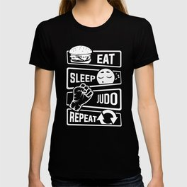 Eat Sleep Judo Repeat - Martial Arts Defence T-shirt