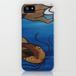 """""""The Pondering Pond"""" by Jes DeCamp iPhone Case"""