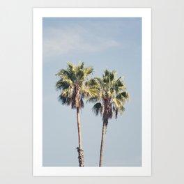 2 Palms Art Print