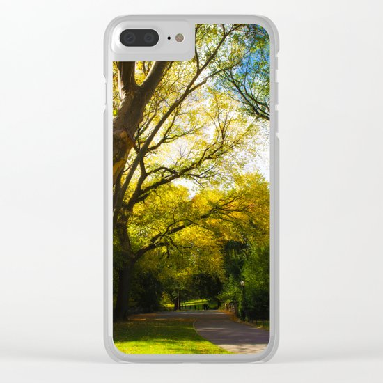 walking in Central park Clear iPhone Case