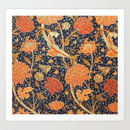 William Morris Cray Floral Art Nouveau Pattern Art Print