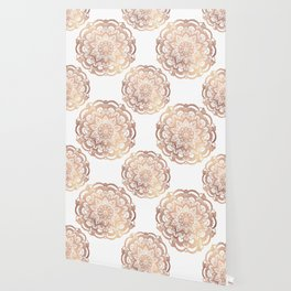 Mandala Rose-Gold Shine Wallpaper