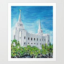Brigham City Utah LDS Temple Art Print
