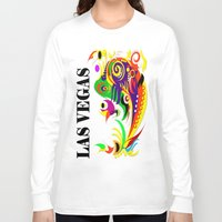 las vegas Long Sleeve T-shirts featuring LAS VEGAS  by Robleedesigns