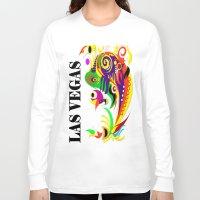 las vegas Long Sleeve T-shirts featuring LAS VEGAS  by Robleedesigns