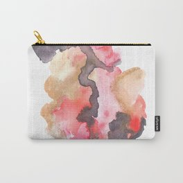 Watercolor Pink Black Gold Flow | [dec-connect] 44. blackblood Carry-All Pouch