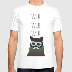 dubstep cat Mens Fitted Tee MEDIUM White