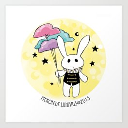 Blythe Circus  ♥★☾ Rabbit ☽★♥ Art Print