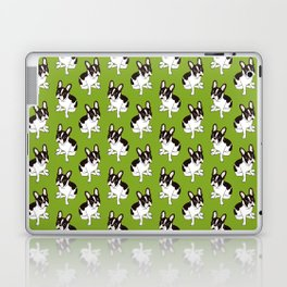 Cute double hooded pied French Bulldog wants your attention Laptop & iPad Skin