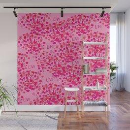 Love Hearts Wall Mural