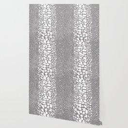 ANIMAL PRINT SNAKE SKIN GRAY AND WHITE PATTERN Wallpaper
