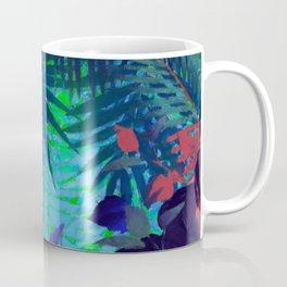 Colorful abstract palm leaves Coffee Mug