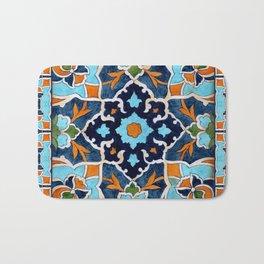 Mediterranean tile Bath Mat