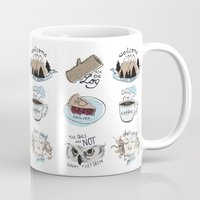 twin peaks Mugs featuring // twin peaks // by // PIGEON //
