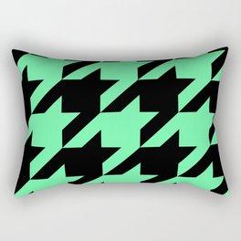 Mint Green Houndstooth Rectangular Pillow