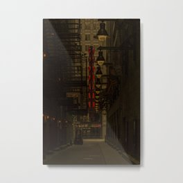 Old Goodman Theatre Sign from Alley Chicago Illinois Metal Print