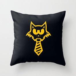 Cat Biz Throw Pillow