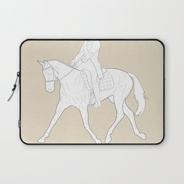 Dressage in Brown Laptop Sleeve