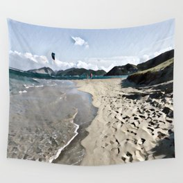 Kite over the beach Wall Tapestry