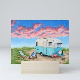 The Happy Camper Mini Art Print