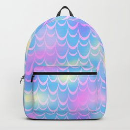 Blue and Pink Mermaid Tail Abstraction. Magic Fish Scale Pattern Backpack
