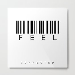 barcode FEEL Metal Print