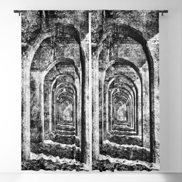 Monochrome Arches Blackout Curtain