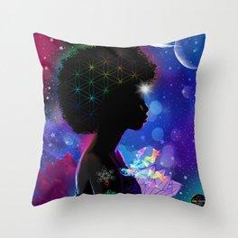 Cosmic Goddess Heart Chakra Throw Pillow