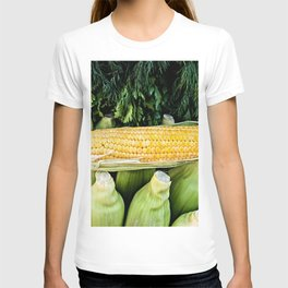 Yellow Corn Over Green Cobs T-shirt