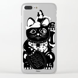 Wish Me Luck Clear iPhone Case