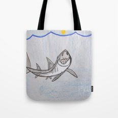 This Great White Shark is Lookin' At YOU! Tote Bag