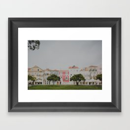 Colourful Row Framed Art Print