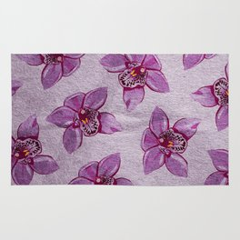 Orchids Pattern Rug