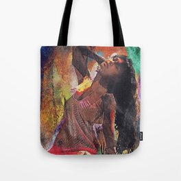 Fences Abstract Portrait Tote Bag