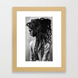 Lady Gray Framed Art Print