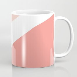 Abstract Curves in coral and Pink Coffee Mug