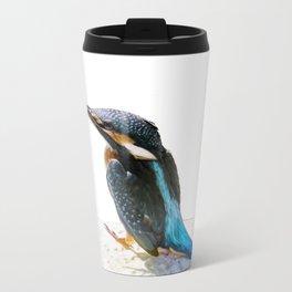 A Beautiful Kingfisher Bird Vector Travel Mug