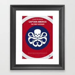 No329 My AMERICA CAPTAIN - 1 minimal movie poster Framed Art Print