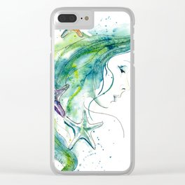 Whispers By The Sea Clear iPhone Case