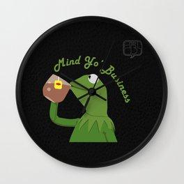 Mind Yo Business Wall Clock