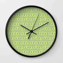 Tulip Knit in Lime & Grey Wall Clock