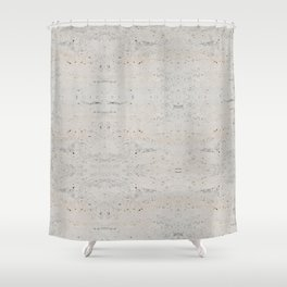 White Abstract Marble Pattern Shower Curtain