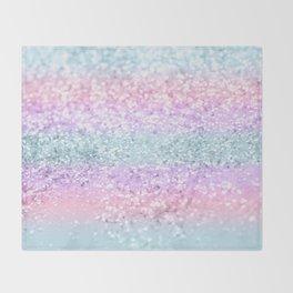 Unicorn Girls Glitter #11 #shiny #pastel #decor #art #society6 Throw Blanket
