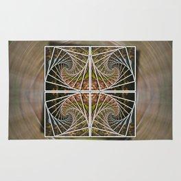Abstract Nature Mandala Rug