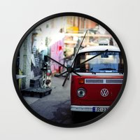 vw Wall Clocks featuring Vw T1 by Nechifor Ionut