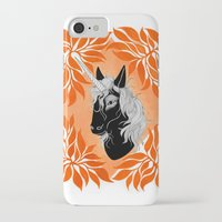 unicorn iPhone & iPod Cases featuring Unicorn by Laura Preston Illustration