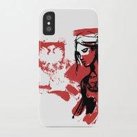 poland iPhone & iPod Cases featuring Poland by viva la revolucion
